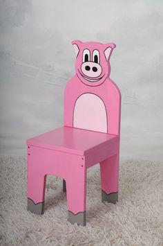 iChart Дети Свинья стул - Детская мебель