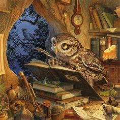 "pagewoman: "" A Wise Old Owl by Chris Dunn """