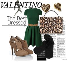 """""""valentino green"""" by kukufaire ❤ liked on Polyvore"""