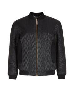 Textured bomber jacket