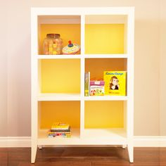 Devon Bookcase in Yellow - Every #nursery needs a bookcase and this one is completely customizable to your decor.