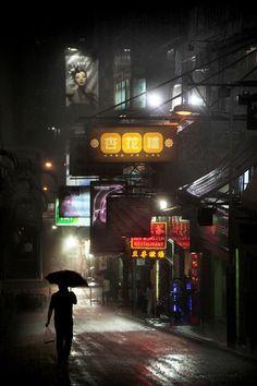 Rainy Night in Hong Kong