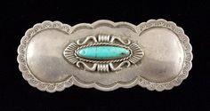 Navajo Pins - Navajo Turquoise and Silver Pin