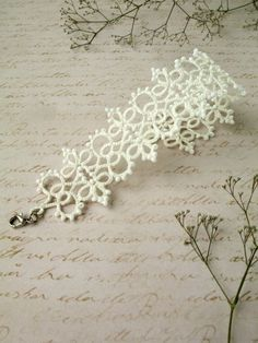 Woman bracelet Tatting lace br  