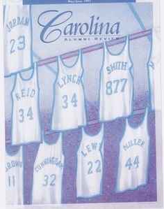 Many famous basketball players have their jerseys hung from the rafters in the Dean E. Smith Center