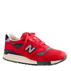 New Balance® for J.Crew limited-edition 998 sneakers in inferno orange