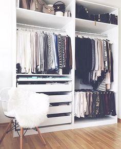 Unique closet design ideas will definitely help you utilize your closet space appropriately. An ideal closet design is probably the […] Closet Bedroom, Home Bedroom, Bedroom Decor, Wardrobe Closet, Master Bedroom, Closet Space, Master Closet, Ikea Pax Wardrobe, Ikea Closet Hack