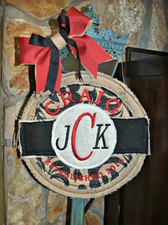 Hang to Dry Applique - Circle Monogram Door Hanger, $1.99 (http://www.hangtodryapplique.com/circle-monogram-door-hanger/)