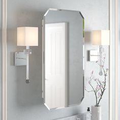 Glass Shelves In Bathroom, Bathroom Wall Cabinets, Single Sink Bathroom Vanity, Master Bathroom, Downstairs Bathroom, Guest Bathrooms, Kitchen Cabinets, Surface Mount Medicine Cabinet, Medicine Cabinets