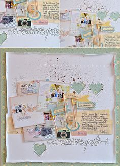 #papercraft #scrapbook #layout Creative goals for 2012 | Flickr
