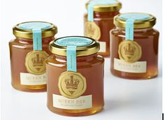 Fortnum & Mason Queen Bee Honey on Packaging of the World - Creative Package Design Gallery Food Packaging Design, Packaging Design Inspiration, Brand Packaging, Branding Design, Packaging Ideas, Honey Packaging, Bottle Packaging, Fortnum And Mason, Creativity And Innovation