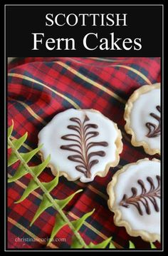 Scottish Fern Cakes are a classic tartlet that are still served in many bakeries in Scotland. Here is an authentic recipe for Fern Cakes. Scottish Desserts, Scottish Dishes, British Dishes, Scottish Recipes, Irish Recipes, Sweet Recipes, Mini Desserts, Christmas Desserts, Christmas Baking