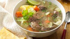 Caldo de Res - Mexican Beef Soup - World Recipes Collection Mexican Beef Soup, Mexican Dishes, Mexican Buffet, Mexican Cooking, Mexican Food Recipes, Ethnic Recipes, Beef Soup Recipes, Cooking Recipes, Easy Recipes