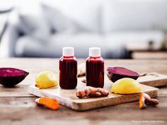 Beetroot shot with ginger. Mia Troberg, Photo & Styling: Sanna Livijn Wexell.