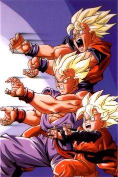 Goku, Gohan, Goten in Broly Second Coming