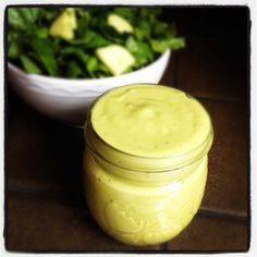This creamy avocado green goddess salad dressing is packed with flavor and full of heart-healthy fats. Make a batch for dipping with your favorite veggies!