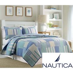 Another idea for nautical stripes in a quilt Nautica Belle Isle Cotton Quilt