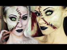 Black and White Makeup Tutorial - YouTube - Loads of special effects video tutorials