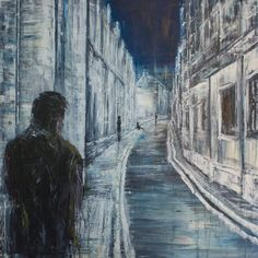 Alone at Night, ooc, 2015 by lesley-oldaker on DeviantArt Black Canvas Paintings, Oil Paintings, Fashion Drawing Tutorial, Best Friend Images, Dark Art Drawings, Painter Artist, Portraits, A Level Art, Art Pictures