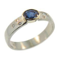 White & Yellow Gold Sapphire & Diamond Ring handmade at Cameron Jewellery Sapphire Diamond, Jewellery, Engagement Rings, Gemstones, Yellow, Winter, Gold, Handmade, Stuff To Buy