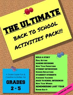 The Ultimate Back to School Packet!!! – A Dozen Fun Resources for the Beginning of the Year! - Back to School can be bittersweet, but these handouts were created to make the adjustment a little easier. Click here to see how you can get this ENTIRE PACKET for ❤ FREE ❤