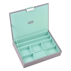 Stackers Dove Grey Lidded Classic Jewellery Box with a Mint Velvet lining: Amazon.co.uk: Kitchen & Home