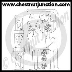 All Things Primitive Line Art – Chestnut Junction