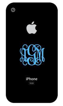 monogram iphone decals.