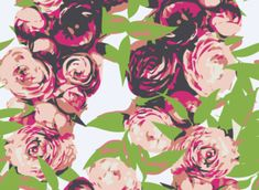 Abstract Floral textile design #fashion #textiledesign #floral  www.patternbank.com/omlabel