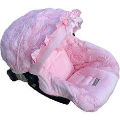 Baby Crystal Rose Infant Seat Cover...if the next baby is a girl she is having this car seat I don't care if I have to make it personally!