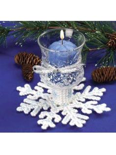Add a votive candle to this frosty glass candle cup to bring an icy glow into your home Skill Level: Beginner