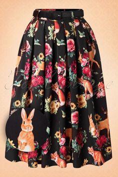 Bunny Hermeline Mini Forest Animals Deer Squirrel Skirt 102 14 16743 20150831 0013W2
