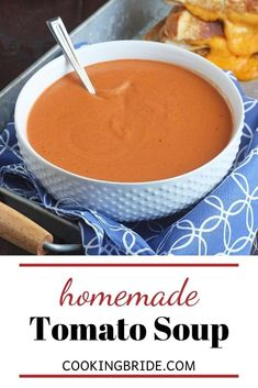 Forget tomato soup from a can. Velvety smooth, homemade tomato soup from scratch is rich, creamy, comforting and bursting with delicious flavor. Tomato Soup From Scratch, Cream Of Tomato Soup, Canned Tomato Soup, Tomato Basil Soup, Chili Recipes, Soup Recipes, Sweet Wine, Quick Easy Dinner, 30 Minute Meals