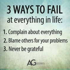3 Ways to Fail at everything in life