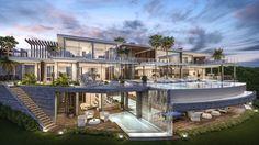 Villa à vendre à La Zagaleta, Benahavis. Nouvelle réalisation d'une luxueuse villa, exceptionnelle tant par son architecture ultra contemporaine ...