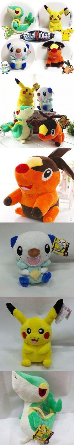 Pokemon Plush Toy Pikachu Oshawott Snivy Tepig 4pcs/lot 30cm Stuffed Collectibles Doll Toys Soft Animal Plush Doll For Kids Gift