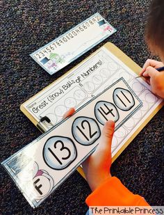 Number Order practice! Love the number line for the kiddos who need extra help!!!