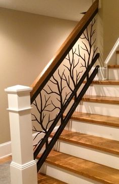 Artisans of the AnvilArtisans of the Anvil - Stairs Staircase Railing Design, Interior Stair Railing, Modern Stair Railing, Balcony Railing Design, Iron Stair Railing, Home Stairs Design, Modern Stairs, House Design, Railing Ideas