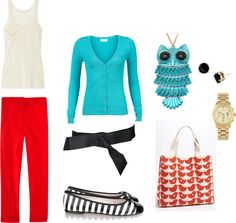 """Owl"" meet you there!, created by cmheid on Polyvore"