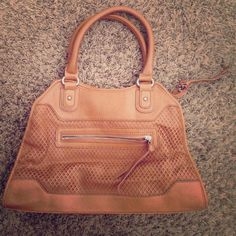 Apt. 9 light brown faux leather handbag Used, with signs of slight wear all around, but in great condition. Great size. Apt. 9 Bags