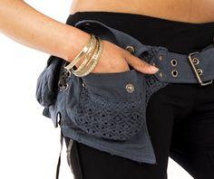 SOLD WITHOUT LOOP!!! Utility Belt, fanny pack, Pocket belt, Festival belt, canvas pocket belt, MFBELb-without-loop