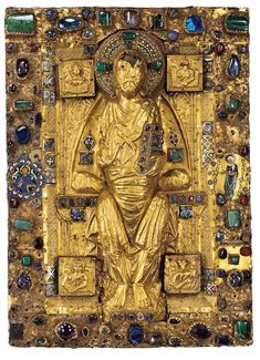 Cover of the Uta Codex, Regensburg ca.1020. Created at the behest of the Abbess Uta, it is not only one of the most beautiful of Ottonian manuscripts but also one of the most complex.
