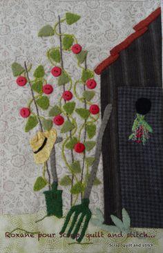 Scrap,quilt and stitch: Grandma's garden, bloc 8