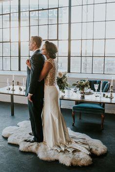 vintage modern winter wedding inspiration