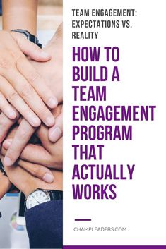 Team  Engagement is key if you want to truly be successful in your leadership   #career. Build a Team the right way and keep them engaged. This is the path  to keep motivation up at all times #leadership #team #teambuilding   #teamengagement #employee #management #training
