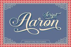 Aaron | The Beautiful October Bundle | The Hungry Jpeg | Guide to dingbats and Open Type features in PDF file in folder.