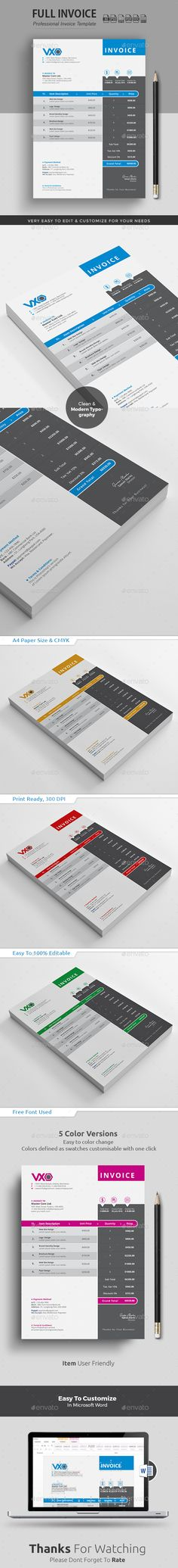 Naga - Invoice Template PSD A4 Invoice Templates Pinterest - create your own invoices