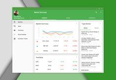 Material design google finance lg