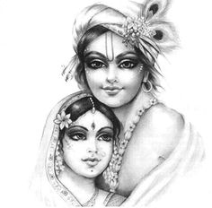 Radha Krishna - Such a tender and beautiful drawing.