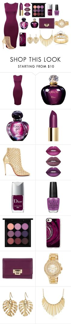 """""""Classic Style"""" by bravegirly on Polyvore featuring Christian Dior, Christian Louboutin, Lime Crime, OPI, MAC Cosmetics, Casetify, Roccobarocco, MICHAEL Michael Kors, The Sak and WithChic"""